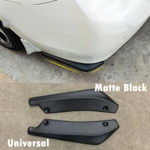 2pcs Universal ABS Car SUV Rear Bumper Splitters Diffuser Scratch Protector Kit