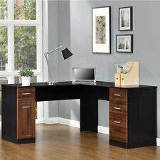 Altra Furniture 9305296COM Altra Avalon L Desk- Cherry/Black NEW