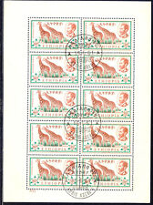 ETHIOPIA 1961 35 C.Giraffes, MS First Day VARIETY INVERTED WATERMARK R!
