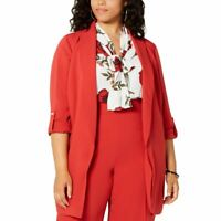 BAR III NEW Women's Plus Size Belted Rolled-cuff Jacket Top TEDO