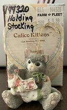 """New ListingCalico Kittens By Enesco 1995 - """"Cat Holding Stocking"""" Ornament 144320"""