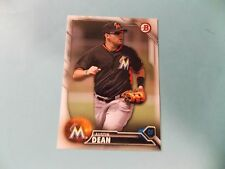 2016 Bowman Draft #BD166 Austin Dean Miami Marlins