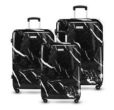 3pc Luggage Suitcase Trolley Set TSA Travel Hard Case Lightweight Black Marble