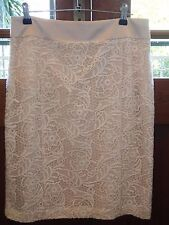 Review cream lace skirt size 10