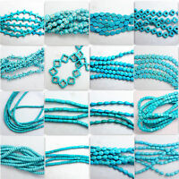 15'' Nature Blue Turquoise Gemstone Stone Beads Loose Spacer Charm Findings Y1