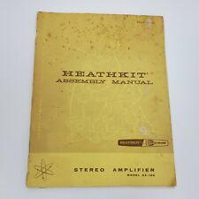 Heathkit Assembly Manual Stereo Amplifier Model AA-100 - Schematics - original