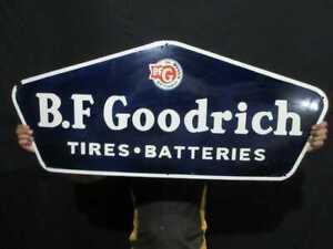 "Porcelain B.F Goodrich  Enamel Sign Size 42"" x 19"" Inches"