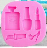 Silicone Fondant Mold Cake Decorating 3D Makeup Lipstick High Heel Perfume Mould