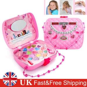 Princess Pretend Makeup Cosmetics Set Kit Bag Kids Beauty Play Girls Toy Gift UK
