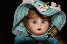 "Antique German Doll. Th. Recknagel  #43 "". Bisque Head Paper Mache Body."