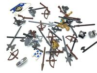 LEGO LARGE LOT OF CASTLE ACCESSORIES WEAPONS SHIELDS AXE BOW SWORDS & MORE