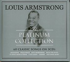 LOUIS ARMSTRONG THE PLATINUM COLLECTION - 3 CD BOX SET - HELLO DOLLY & MANY MORE