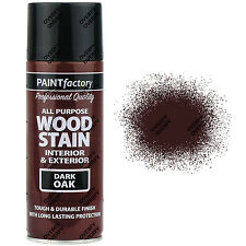 x2 400ml All Purpose Dark Oak Satin Spray Paint Dark Brown Wood Stain
