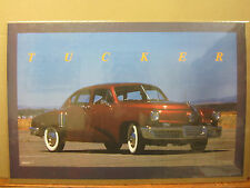 vintage 1988 Tucker car poster garage man cave  4411