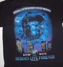 New 911 Memorial 10th Anniversary T shirt Black Mens Small S Tee Law Enforcement
