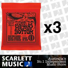 3x Ernie Ball Skinny Top Heavy Bottom 10-52 Slinky Strings *SET OF 3 PACKS*