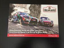CP POSTCARD CARTOLINA MITSUBISHI PORSCHE 6 UREN VAN KORTRIJK RALLYE WRC RALLY