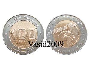 Algeria, 100 Dinars, 2018 (2019), Satellite, bi-metal, bimetallic, UNC, New