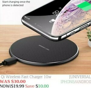 Cargador Inalambrico Original Iphone Xs X 8 Plus Samsung S10 S9 LG Universal