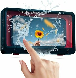 Shower Waterproof Phone Case-Wall Mounted for Bathroom Touch Screen FREE POSTAGE