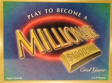 Vtg New Sealed Play To Become A Millionaire Card Game by Universal Games 1999