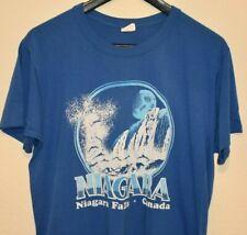 True Vintage 80's Niagara Falls Canada Tourist Poly Blend T-Shirt size LARGE