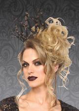 Gothic Queen Crown Black & Gold Felt Adjustable Novelty Crown
