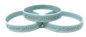3 x Prostate Cancer UK Charity Awareness Wristband Mens Health Blue Fashion Band