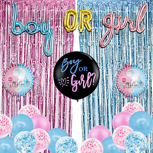 Gender Reveal Party Decorations, Gender Reveal Party Supplies Includes Boy Or Gi