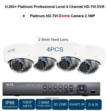 4CH HD-TVI DVR 1080P + NIGHT VISION 2.8MM DOME 2.1MP 4PCS CCTV Camera sys.