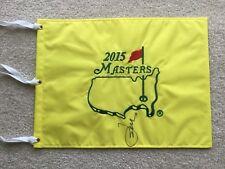Jordan Spieth signed 2015 Masters golf flag Tournament Winner
