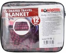 12V Heated Travel Electric Blanket 8ft Lead PVC Bag + Colour Header Extra Large