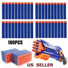 For NERF N-Strike Kids Refill Toy Gun Bullet Darts Round Head Blasters 100X