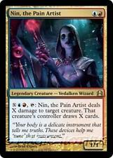 NIN, THE PAIN ARTIST Commander 2011 MTG Gold Creature — Vedalken Wizard RARE
