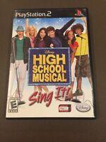 PS2G256 High School Musical: Sing It (Sony PlayStation 2, 2007)