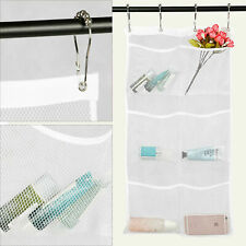 6-Pocket Shower Organizer Bathroom Caddy Hanging Mesh Storage Bag Wall Hanging