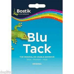 Bostik Bostic Reusable Repositionable Removable Sticky Blu Blue Tack Tac Tak