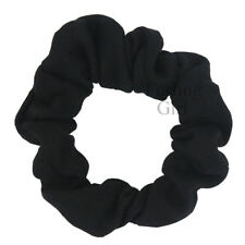 Set of 6 Thin Cotton Scrunchies Solid Color Ponytail Holder Women Hair Accessory