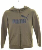 PUMA Boys Hoodie Sweater 11-12 Years Khaki Cotton  HY07