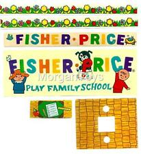 Vintage FISHER-PRICE SCHOOL #923 REPLACEMENT LITHOS Little People Play Famiy