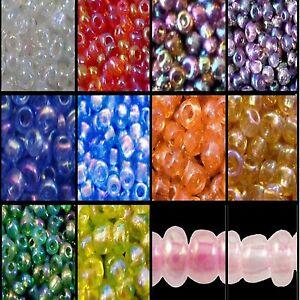 BUY 3 GET 3 FREE 25g 11/0, 6/0, 8/0 Rainbow Glass Seed Beads