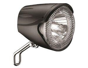 Scheinwerfer LED Marwi UN-4256 20-Lux für Nabendynamo - schwarz (OEM)