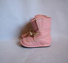 Jack and Lily Pink Leather Lace Up Boots Shoes Size 12-18 Months Toddler Girls