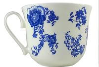 ROY KIRKHAM Breakfast Tea Cup Blue Victoriana Fine Bone China England Tableware