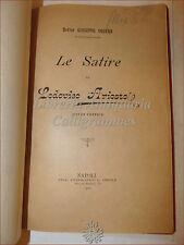Giuseppe Orgera, LE SATIRE DI LODOVICO ARIOSTO Studi Critici 1900 Napoli Pesole