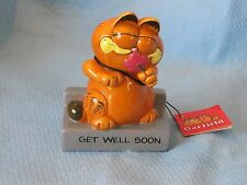 VINTAGE ENESCO GARFIELD CAT GET WELL SOON  FIGURINE with tag