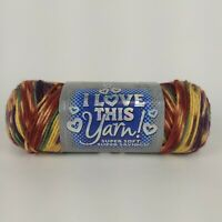 1 Skein I Love This Yarn! Jazzed Striped Knitting Yarn 100% Acrylic 5oz 589