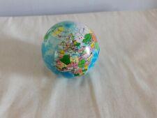 World Globe Small Rubber Spongy Ball