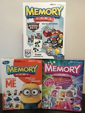 Hasbro Memory Game Lot: Transformers Rescue Bots, Despicable Me, My Little Pony