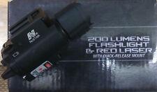 NcStar 200 Lumens Flashlight and Red Laser